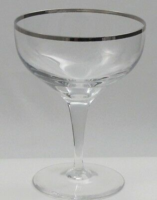 Lenox Weatherly dessert glass platinum band Crystal Made in USA Mt Pleasant PA