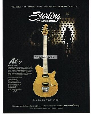 2009 Music Man STERLING AX40 Electric Guitar Advertisement