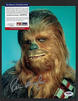 Peter Mayhew signed 8x10 autograph PSA Authenticated Chewbacca Star Wars ESB