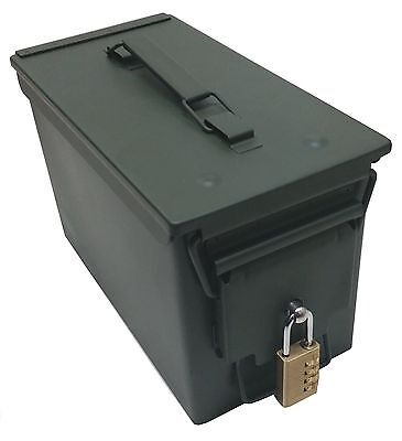 Steel 50 Cal Ammo Can with Pre-Installed Locking Hardware