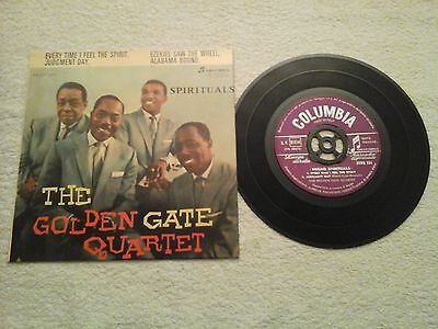 "THE GOLDEN GATE QUARTET- ""negro spirituals"" 45 giri Jazz"