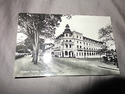Kandy, Queens Hotel, REAL PHOTO POSTCARD C1940  1-J