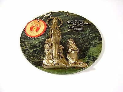 Our lady of Lourdes bless our home marble plaque