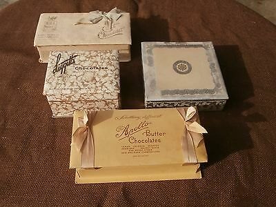 Antique Chocolate Candy Boxes Lowney's Liggett's Apollo Gales