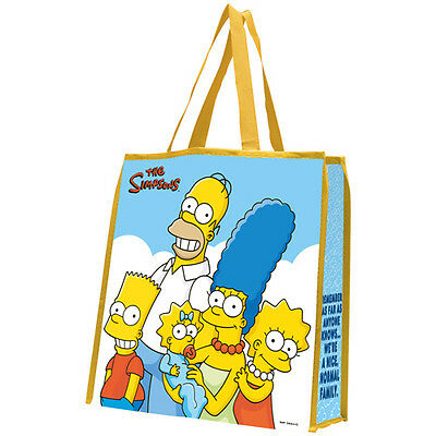 The Simpsons Cartoon Bart Homer Etc Large Shopping Bag Or Tote Vr B5
