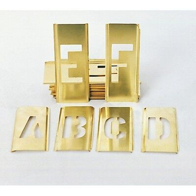 "1/2"" New 45pc Brass Letter Number Stencils Military"