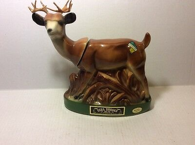 White Tailed Deer Buck With Antlers Ezra Brooks Decanter