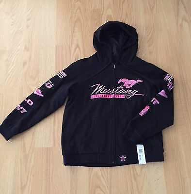 Ford Black And Pink Mustang Hoodie- Large
