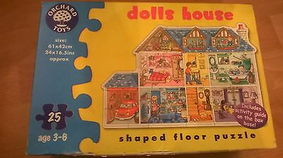 Orchard Toys Dolls House 25 piece shaped floor puzzle