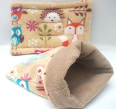 guinea pig bed snuggle pouch  cuddle cup sack  and lap pad sleeping bag  2 piece