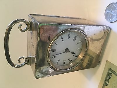 London Circa 1900 Antique Mappin & Webb Sterling Silver Carriage Clock RARE!!!!