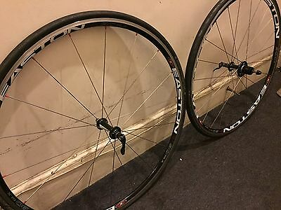 Easton EA90 SLX Wheelset Shimano 10 and 11 Speed Compatible. GP4000s tyres Inc.