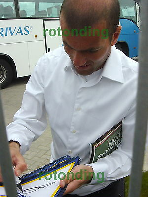 Zidane Real Madrid Hand Signed Pennant With Photo Proof + Coa