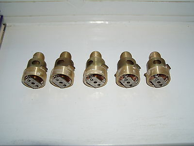 Five (5),Used Viking VK407 Concealed Type Fire Sprinkler Heads - no cover plates