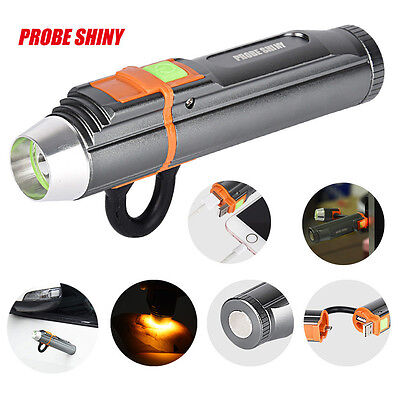 5000LM Adjustable LED Zoom XM-L T6 USB Rechargeable Flashlight Torch Portable UK