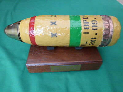 WW1 TRENCH ART BRITISH 18pdr RELIC SHELL ON PLYNTH   L@@K
