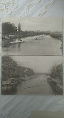 2 postcards Oxford Eights boating sport rowing