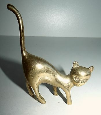 SMALL VINTAGE BRASS Cat  No1.