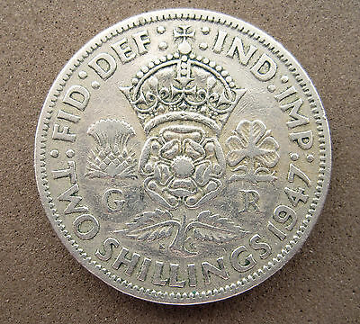 Gb    Two Shillings  Coin    George V1   1947     Circulated
