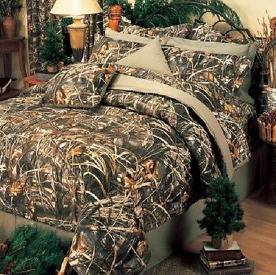 Realtree Max 4 Camo 9 Piece Full Size Comforter Set -Camouflage Hunting Bedding