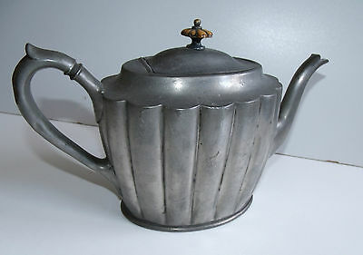Antique Victorian Pewter Teapot Philip Ashberry & Sons