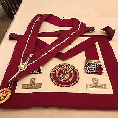 Cheshire Provincial Stewards Apron, Collar And Jewel