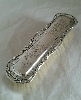 "Sterling silver ""Aesthetic movement"" clothes brush.London1907.By Henry Matthews"