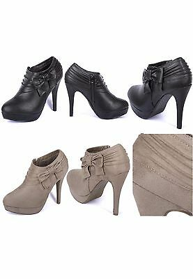 Wholesale Job Lot Ladies 10 Pairs High Heel Platform Zip Up Ankle Boots Size 3-8