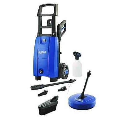 New Nilfisk C120 Pressure Washer 1400W Motor 120 Bar Pressure With Patio Cleaner