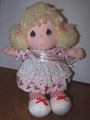 Precious Moments 1990 Christmas Edition Doll by Applause Plays Music