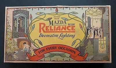 Vintage Reliance Decorative Christmas Light BOX interesting light shades inside