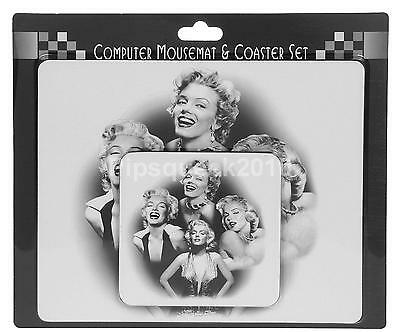 Mouse Mat AND Coaster Set Marilyn Monroe 1950`s Celebrity Star Hollywood UK1811A