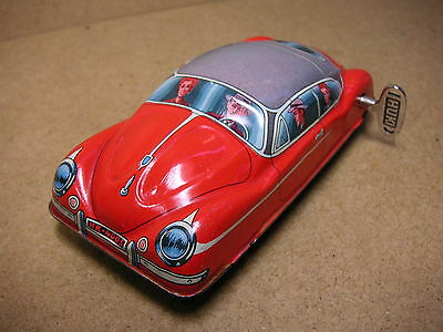 Huki Kienberger 4005 VW Käfer Beetle KDF Uhrwerk Germany 50er Top Tin Tole Latta