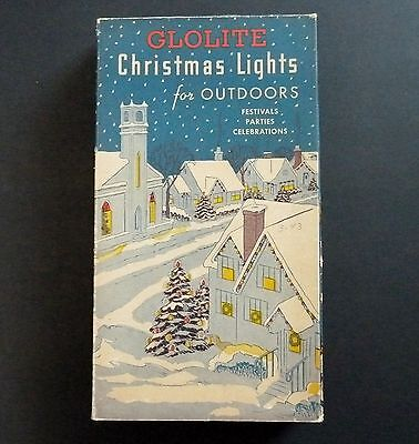 Vintage Glolite Christmas Light Box #907 Nice Box Great Graphics