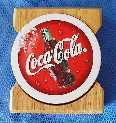 Coca Cola Absorbent Coasters and Coaster Holder New OLD Stock - Collectors