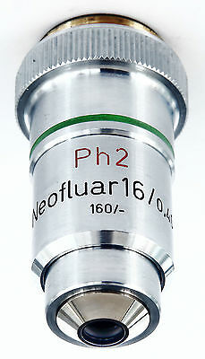 Carl Zeiss Microscope - Neofluar 16X, 0.40Na. Ph2, Phase Contrast Objective