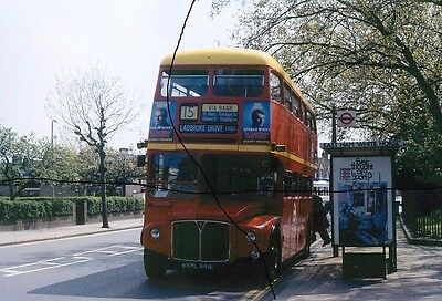 Bus Photo Of A London Transport Photograph Picture Of Yellow Roof Routemaster 15