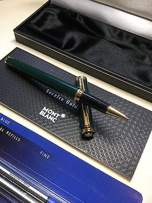 Montblanc Noblesse Oblige Rollerball Pen In Rare British Racing Green