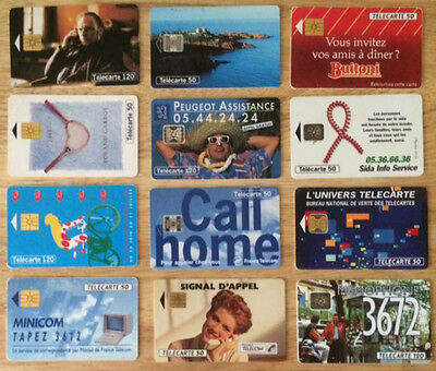 12 Different French Phonecards.