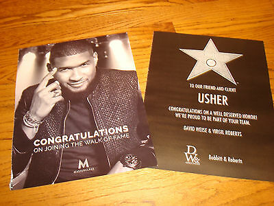 USHER 2016 2 congrats ads for Hollywood Walk of Fame Star on Hollywood Blvd.