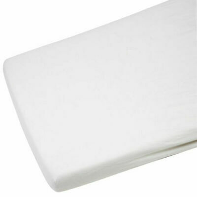 2x Crib Jersey Cradle Fitted Sheet 100% Cotton 40 x 90cm White