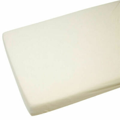 2x Crib Jersey Cradle Fitted Sheet 100% Cotton 40 x 90cm Cream