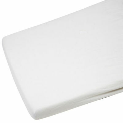 2x Cot Bed Jersey Fitted Sheets 100% Cotton 140cm x 70cm White