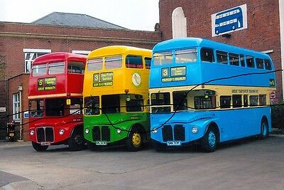 Bus Photo,london Flying Banana,great Yarmouth Photograph Picture Of Routemaster.