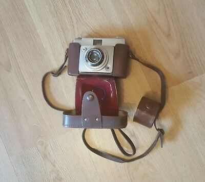 Ilford Sportsman Vintage Camera With Original Leather Case