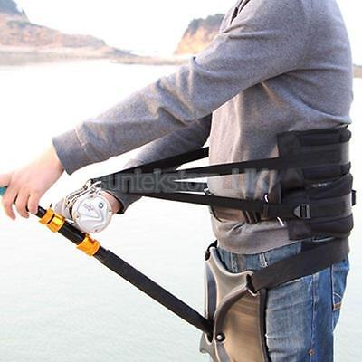 Offshore Stand Up Gimbal Fishing Fighting Belt Waist Back Harness Rod Holder