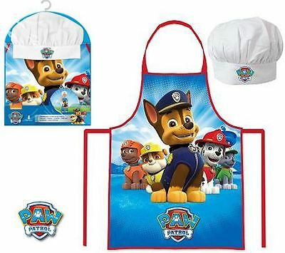Childrens Girls Boys Kids Paw Patrol Cook Gift Chef Set Includes Apron And Hat