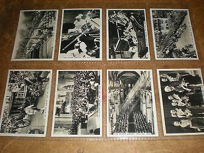 1935 senior service  sights of london (extra 12)  cigarette cards set of MF12