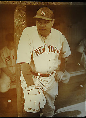 Babe Ruth Ny Yankees Sepia Photo Print