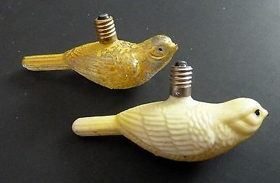 (2) Vintage Figural Christmas Light Bulbs with Birds #4